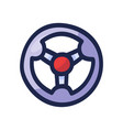 steering wheel hand drawn outline doodle icon vector image