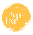 sugar free icon products package label vector image