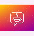 tea cup icon hot coffee drink sign vector image vector image