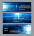 technology web banners or abstract website tech vector image vector image
