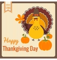 thanksgiving day vintage card vector image vector image