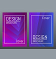 trendy cover design futuristic style template for vector image vector image