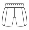 Trousers thin line icon clothing and fashion