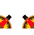 two funny thanksgiving turkey vector image vector image