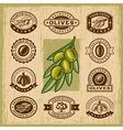 Vintage olive stamps set vector image vector image