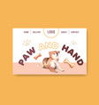 website template with dogs and food design vector image vector image