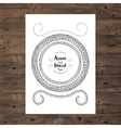 wedding invitation card with floral wreath vector image