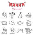 Happy Valentine Day icons art vector image