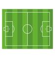 Soccer Field Top View Football Green Stadium vector image