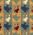 The pattern of colored squares blots vector image