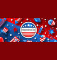 american background for usa independence day vector image vector image