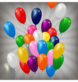 balloons striped background vector image vector image