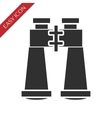 Binoculars icon on white background vector image vector image