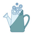 blue shading silhouette of watering can and vector image vector image