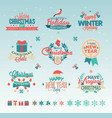 christmas vintage typography design vector image vector image