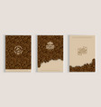 coffee beans cover design set vector image vector image