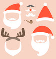 collection of santa hat vector image