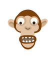 cool monkey logo design ape vector image vector image