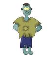 cute zombie halloween frankenstein symbol icon vector image vector image