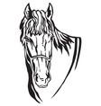 decorative portrait of horse 5 vector image vector image