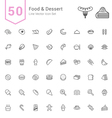 Food and Dessert Line Icon Set vector image vector image