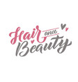 hair and beauty logo design template make vector image vector image