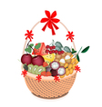 Health and Nutrition Fruit in Gift Basket vector image vector image