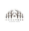 home tree logo vector image vector image