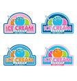 Ice Cream Logo vector image vector image