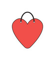 icon concept heart-shaped shopping bag vector image vector image