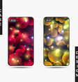 Isolated templates phone with Christmas design vector image vector image