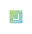 j maze letter logo icon design vector image