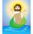 jesus floating vector image vector image