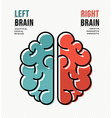 Left and right brain concept poster vector image