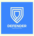 line shield logo vector image vector image