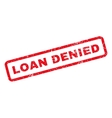 Loan Denied Rubber Stamp vector image vector image
