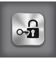 Lock icon - metal app button vector | Price: 1 Credit (USD $1)