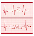 Love Cardiogram vector image vector image