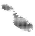 malta island map population demographics vector image vector image