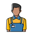 man in working clothes service profession delivery vector image
