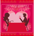 man proposing with an engagement ring to his love vector image vector image
