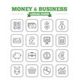 Money and business linear icons set Thin outline vector image vector image