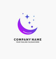 moon night star weather space purple business vector image