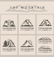 mountain sunset logo vector image vector image