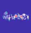 neurology medical banner neurologist medic vector image