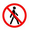 no trespassing vector image
