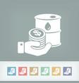 petroleum price icon vector image vector image