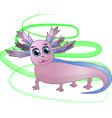pink funny axolotl vector image