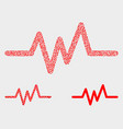 pixelated pulse signal icons vector image vector image