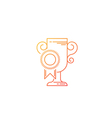 Prize cup and winning reward line icon and logo vector image vector image
